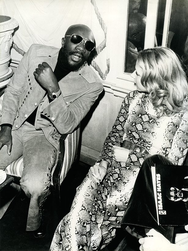 Fiorella Gentile and Isaac Hayes