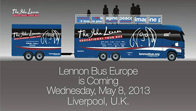 john lennon tour bus in liverpool