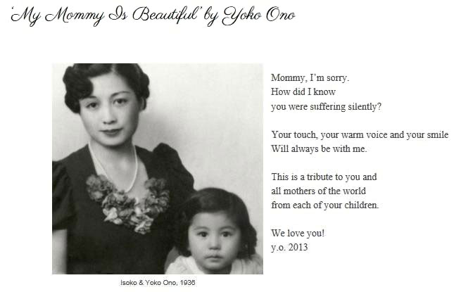 My Mommy is Beautiful - Yoko Ono